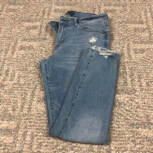 Abercrombie mid rise super skinny ankle jeans